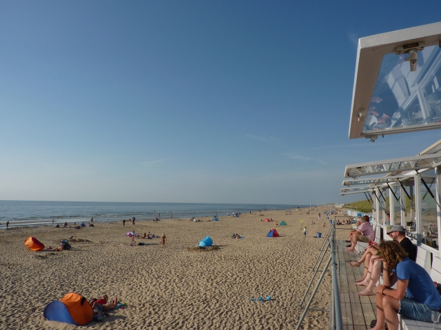 Strand Bergen aan Zee (terras Sissy Boy Noord)