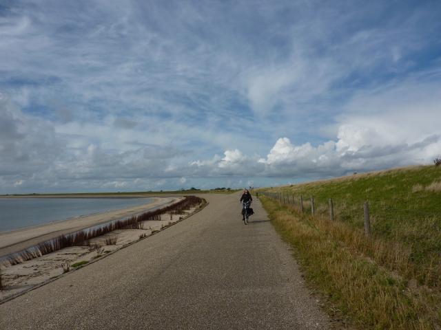 Fietsen langs de Waddendijk Texel
