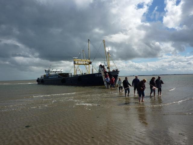 Boottochtje naar een zandbank met de TX-20, Texel
