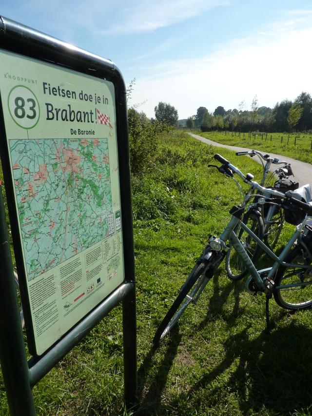Begin van het fietspad langs de Mark, Breda