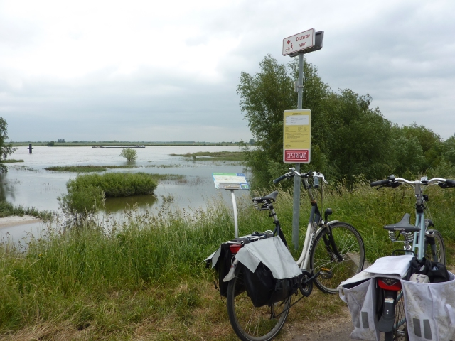 Voet- en fietsveer gestremd wegens hoog water