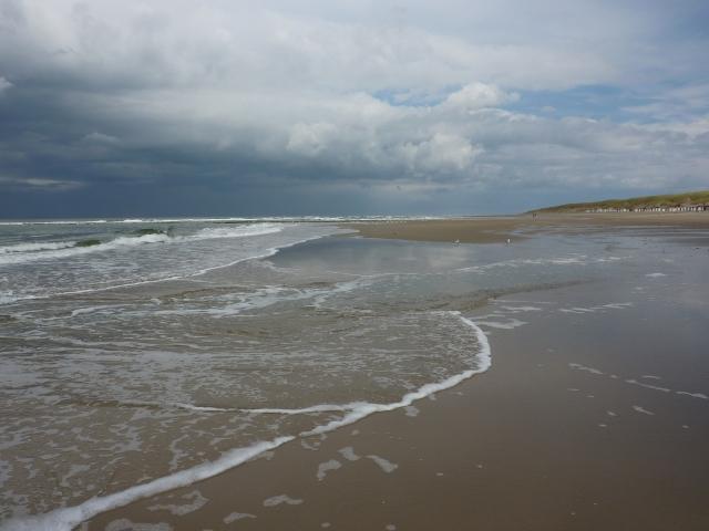 Zee en strand bij paal 12, Texel