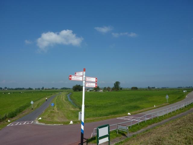 Fietskruispunt langs Uitdammerdijk