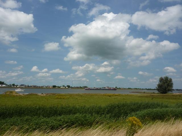 Rivier de Merwede bij Werkendam